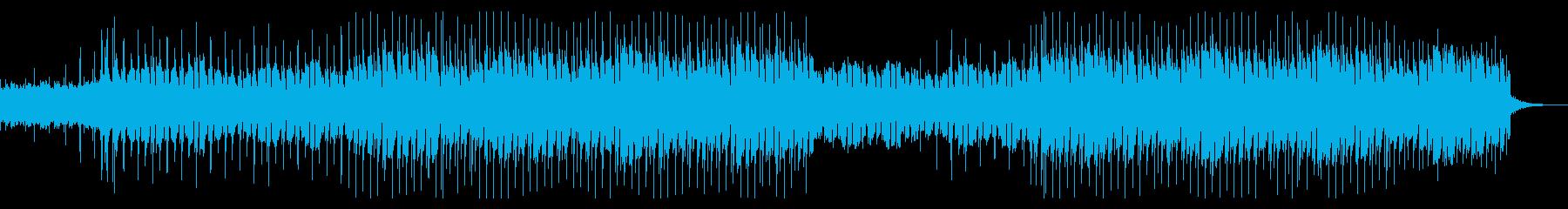 ラテン調のギターメロディサウンドの再生済みの波形