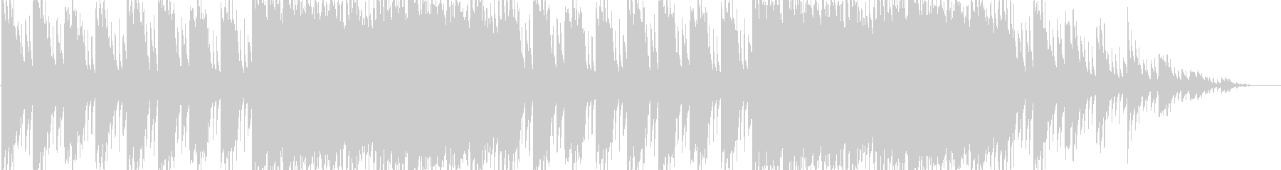 ギターの明るく切ない感じの曲の未再生の波形