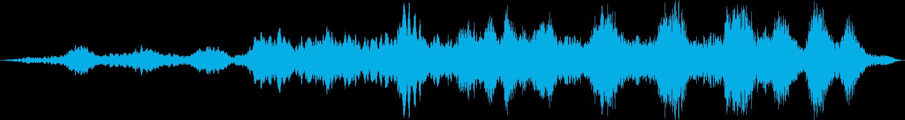 眠りに誘うようなゆったりとした音響の再生済みの波形