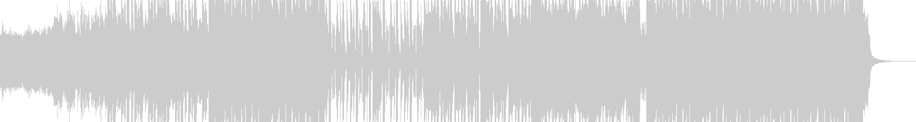 シャッフル系インダストリアルロックの未再生の波形