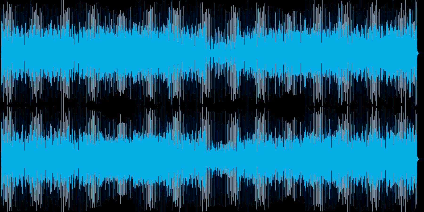 ポップでリズミカルなシンセサウンドの再生済みの波形