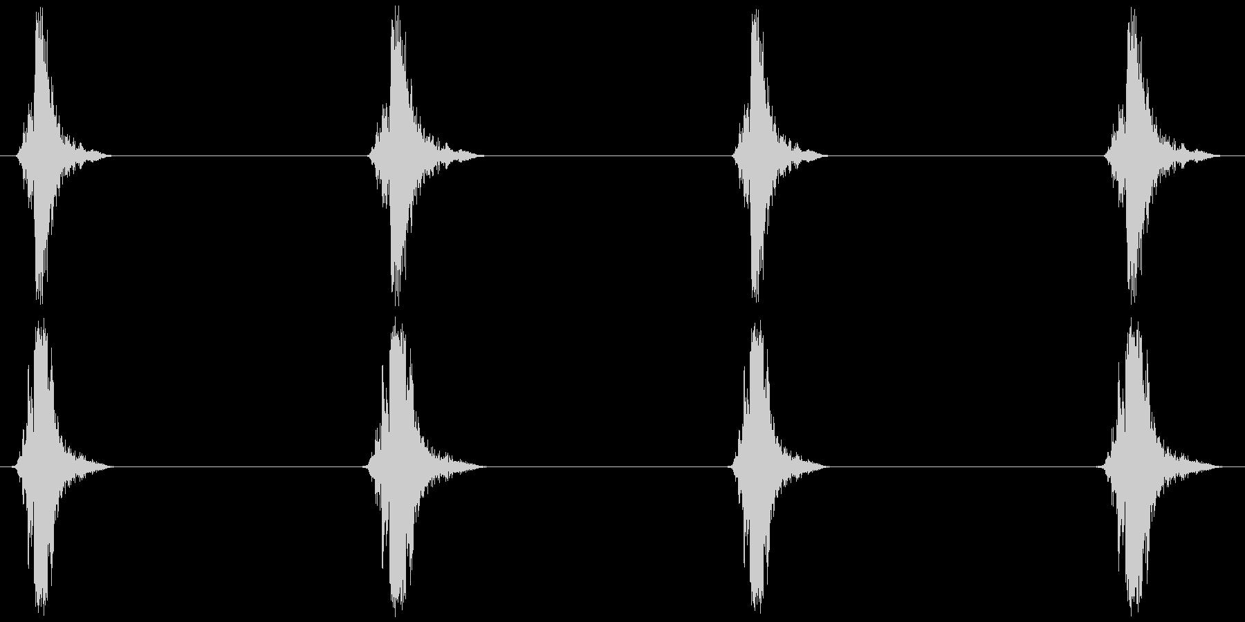 はしご、脚立 (昇降) カッカッカッカッの未再生の波形