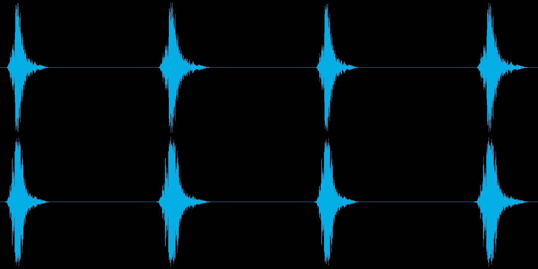 はしご、脚立 (昇降) カッカッカッカッの再生済みの波形