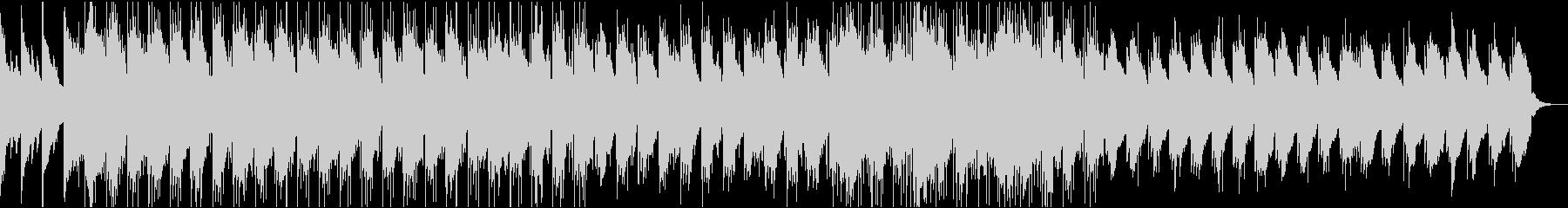 Reverbピアノとドラムの残響メロディの未再生の波形