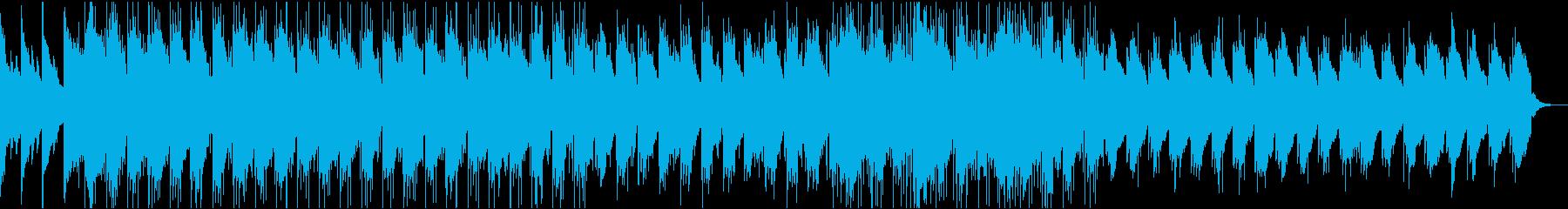 Reverbピアノとドラムの残響メロディの再生済みの波形