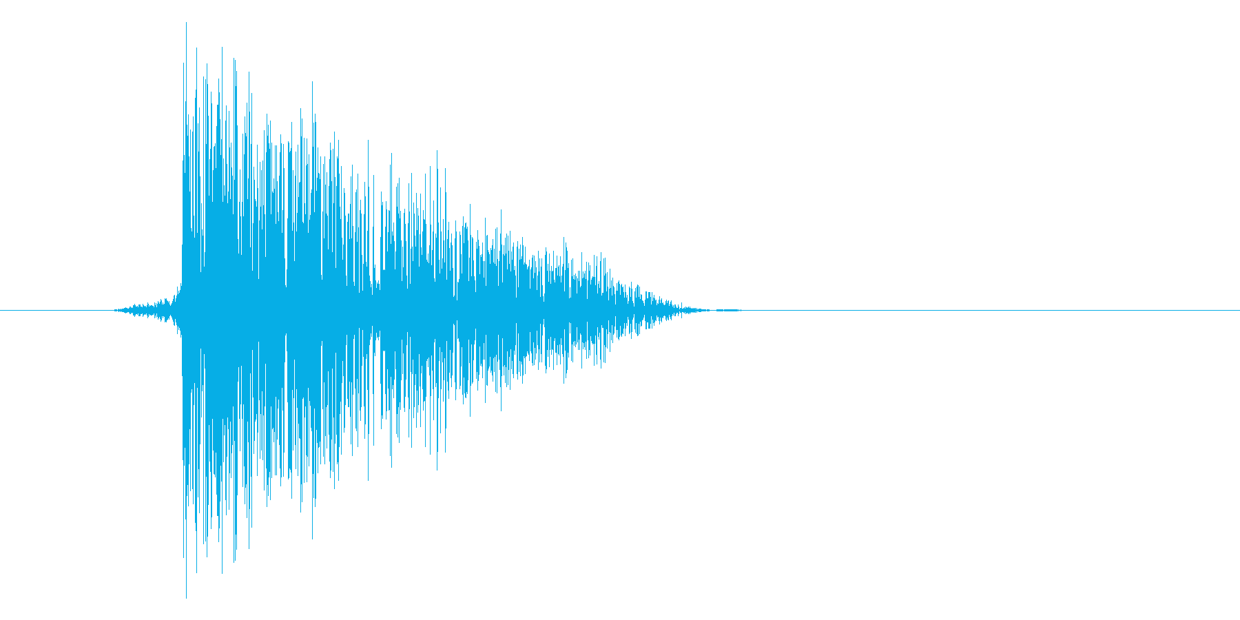 ゲーム(ファミコン風)爆発音_044の再生済みの波形