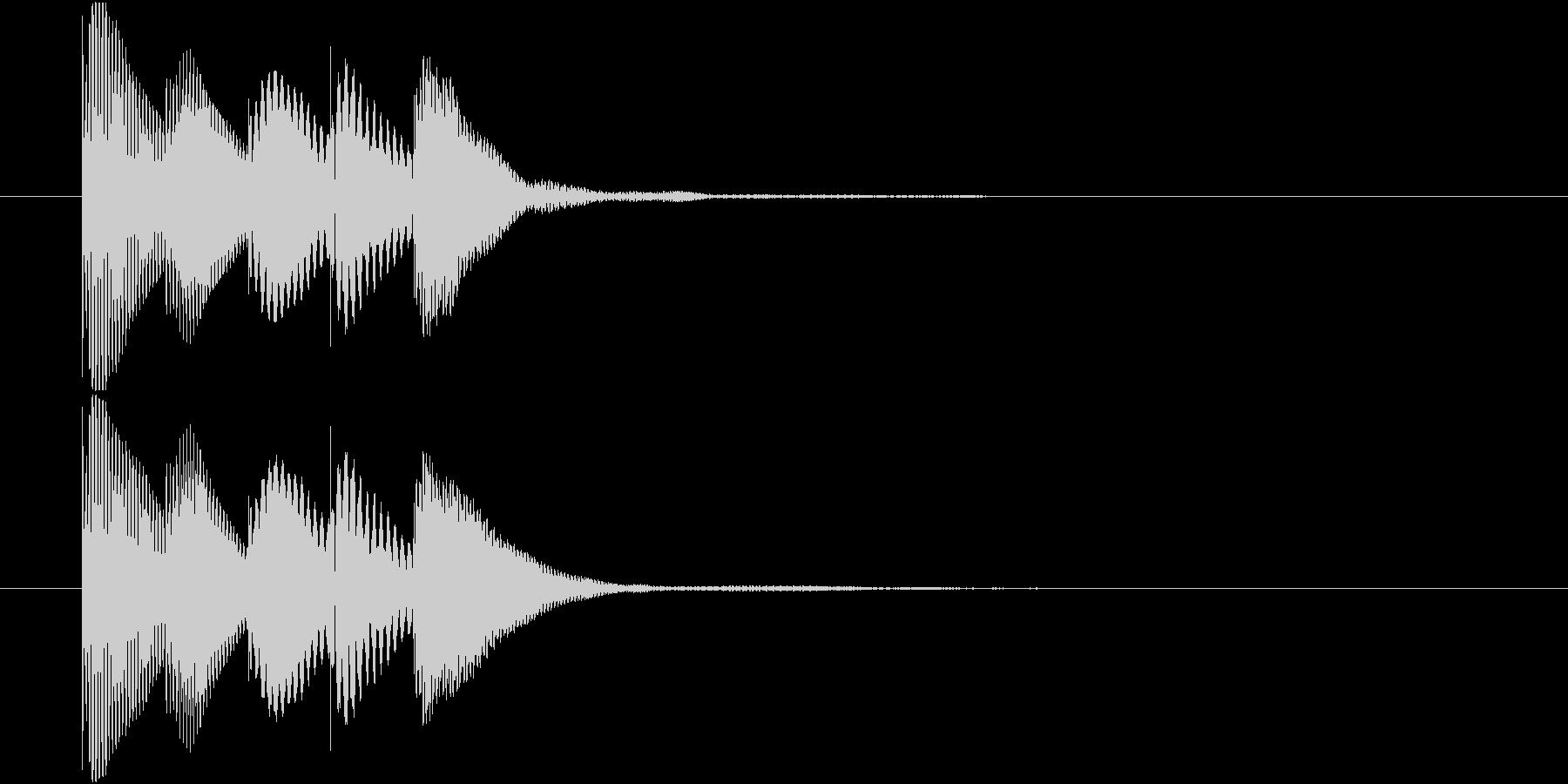 マリンバのアイテム入手音 テレレレレン1の未再生の波形