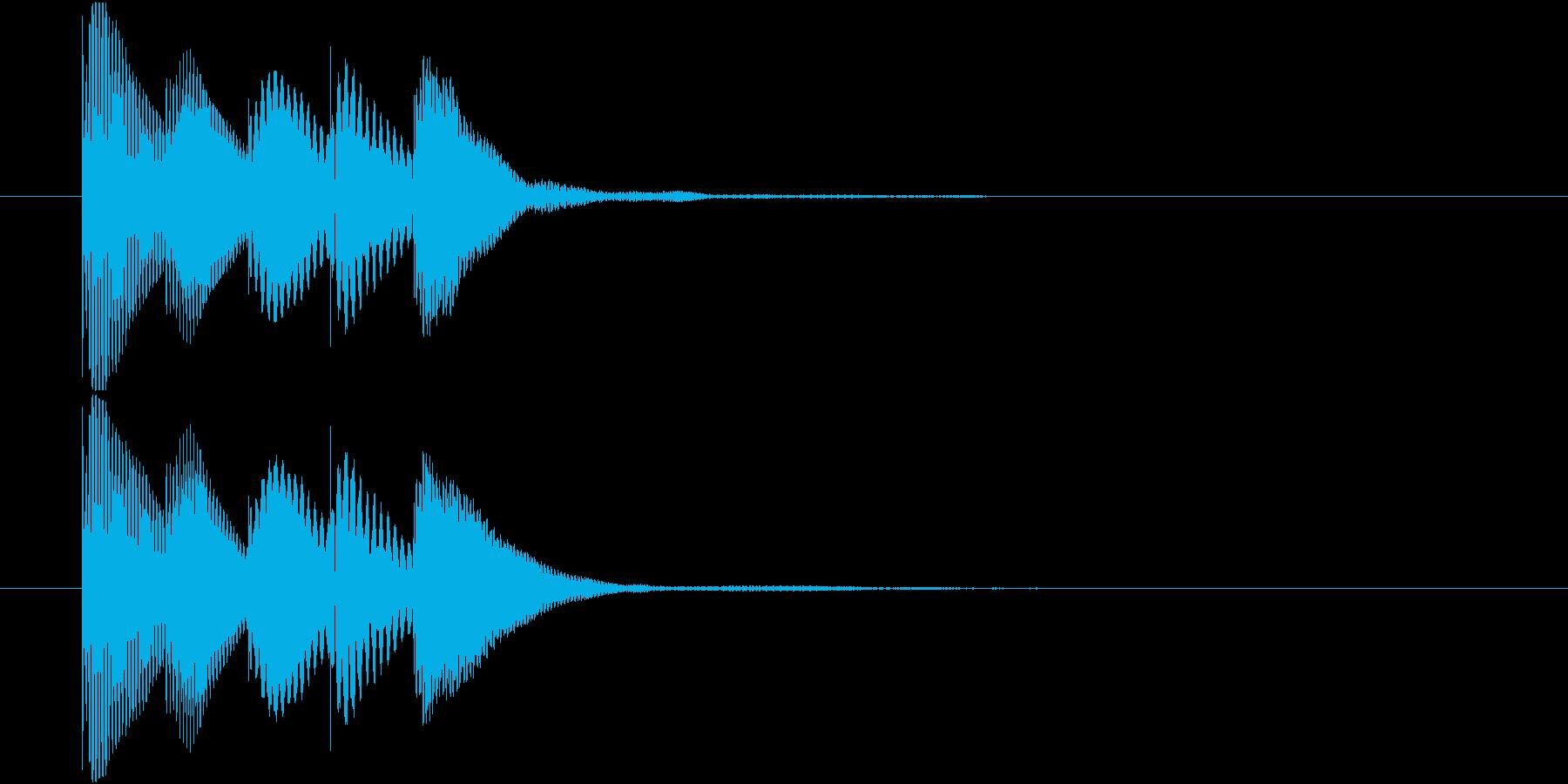 マリンバのアイテム入手音 テレレレレン1の再生済みの波形