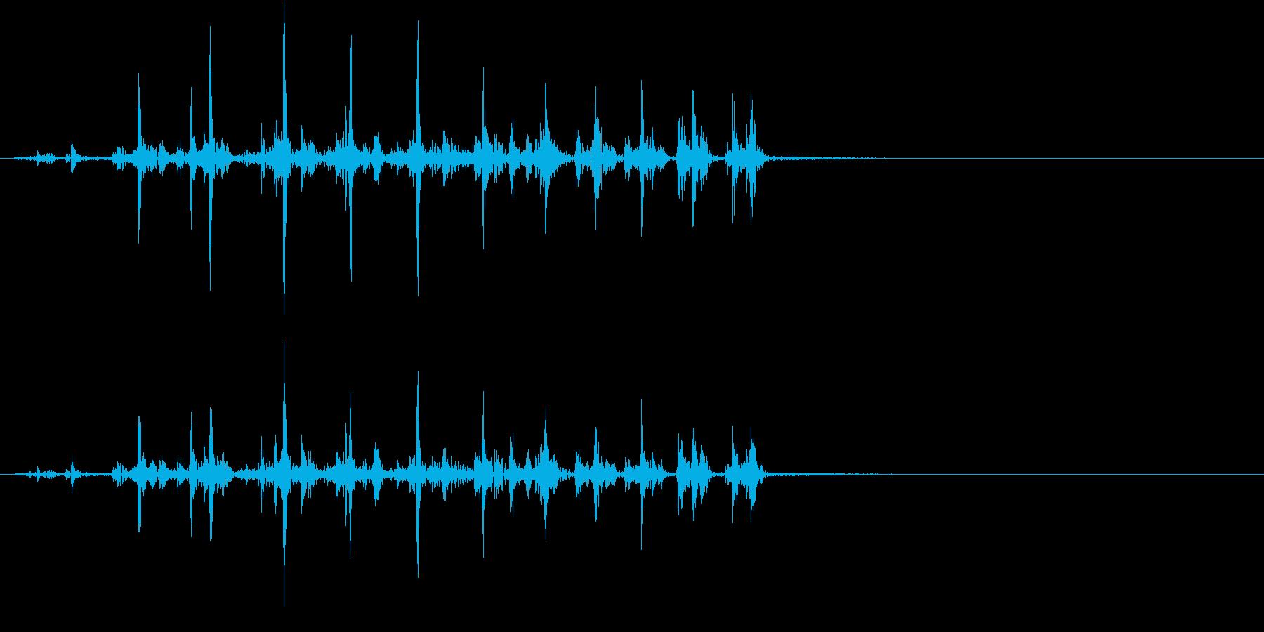 【生録音】カッターナイフの音 21の再生済みの波形