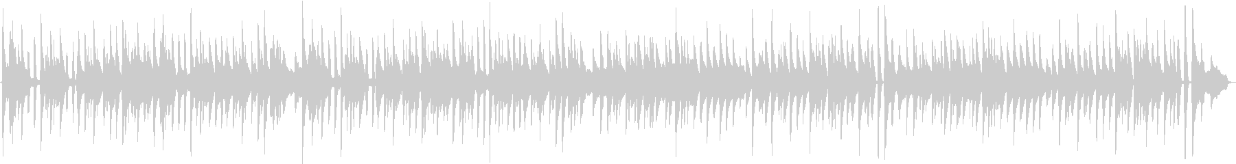 バッハのメヌエットを原曲のピアノ演奏での未再生の波形