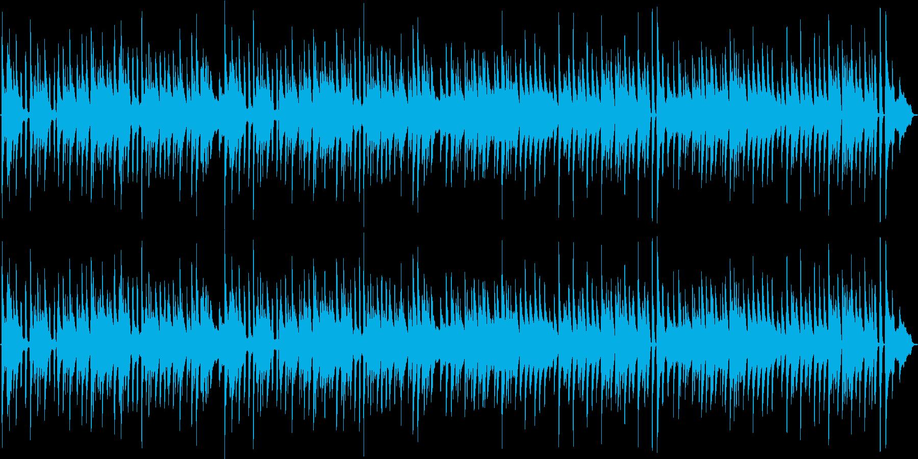 バッハのメヌエットを原曲のピアノ演奏での再生済みの波形