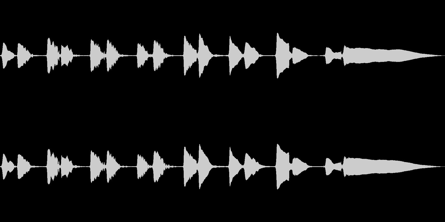サックスソロの曲です。の未再生の波形
