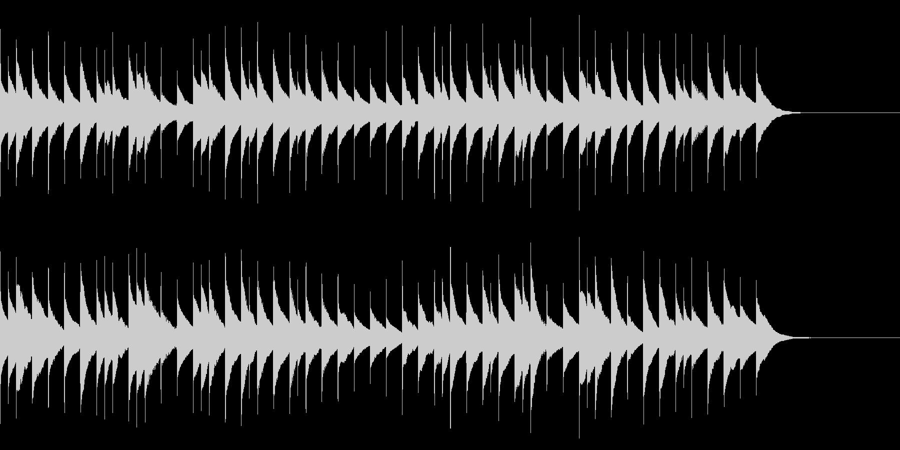 「こいのぼり」のオルゴールアレンジの未再生の波形