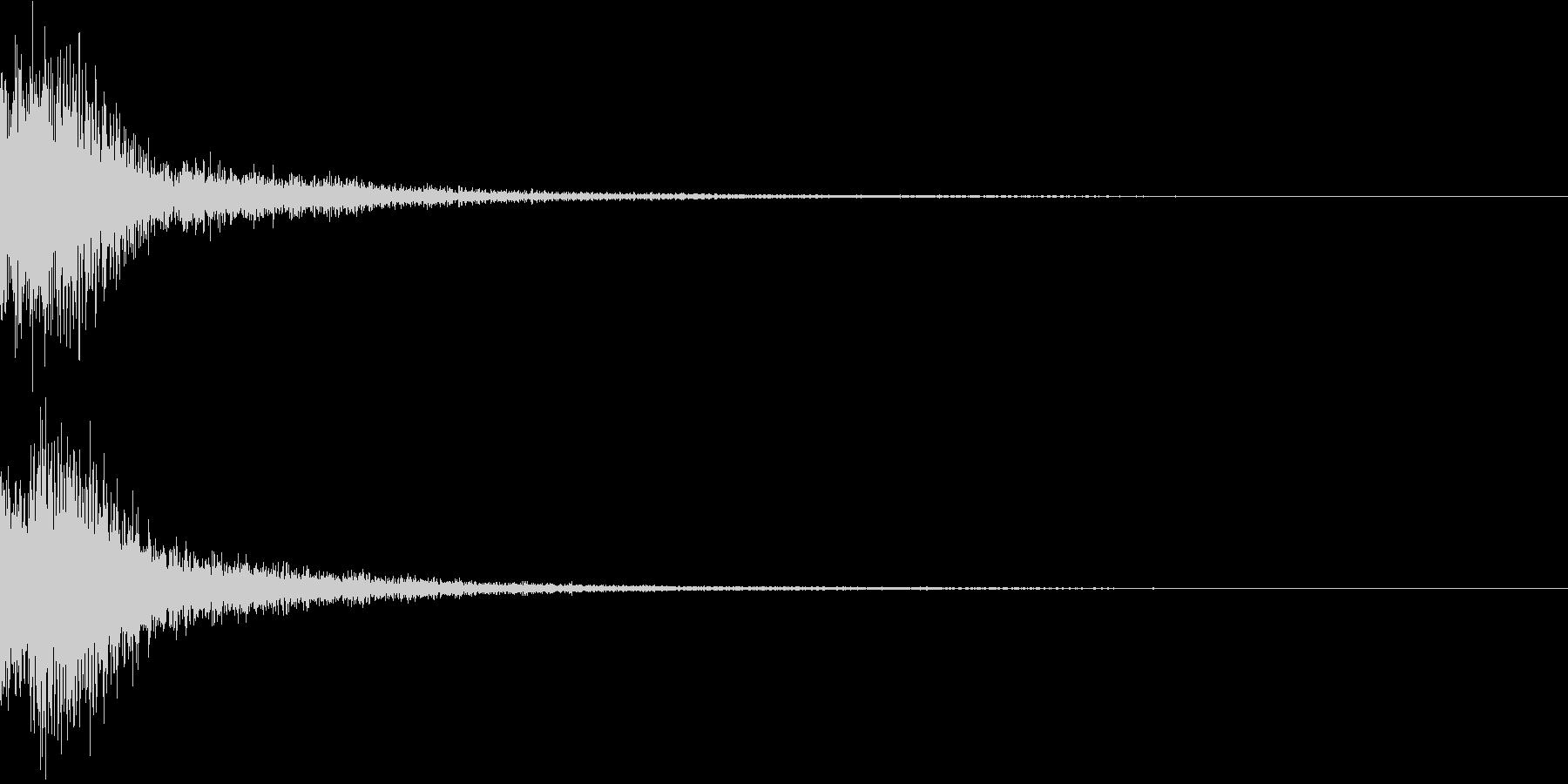 ジャン(ポップなオーケストラヒット高め)の未再生の波形