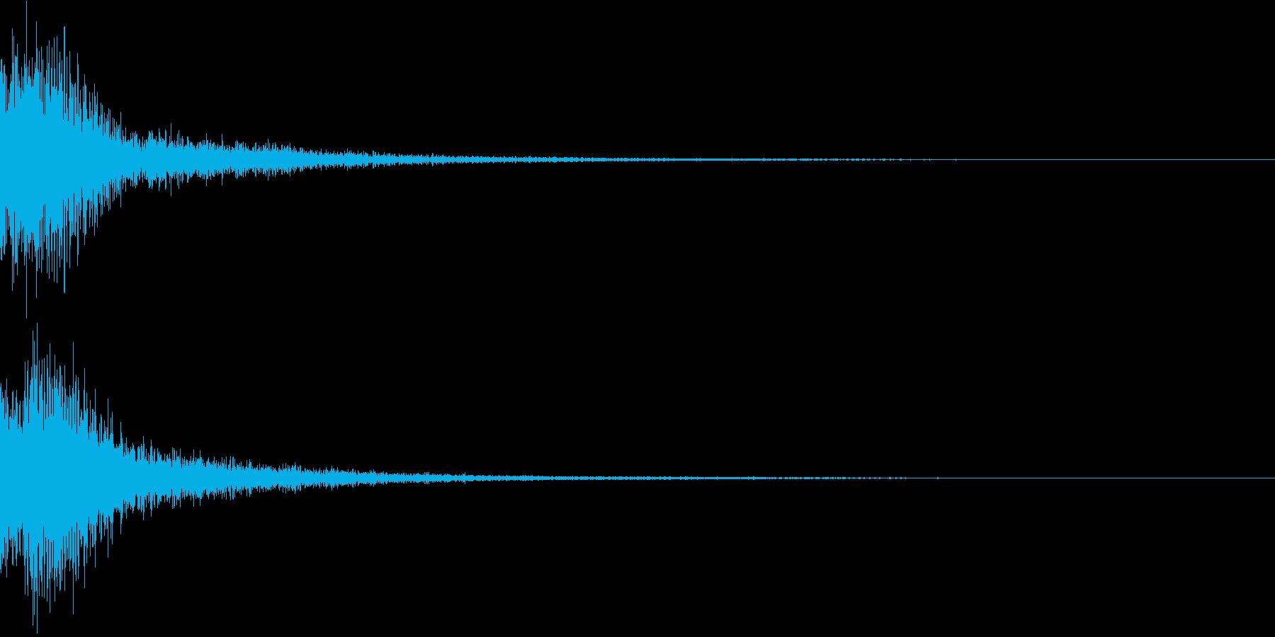 ジャン(ポップなオーケストラヒット高め)の再生済みの波形