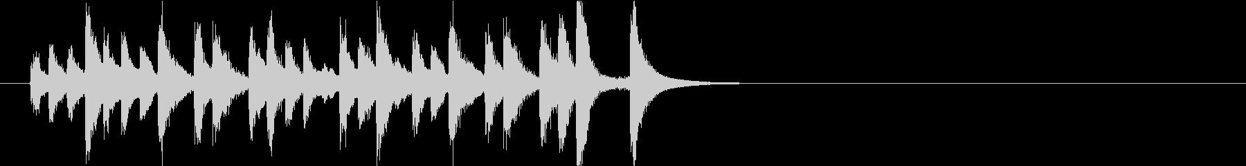 キラキラして可愛いピチカートジングルの未再生の波形