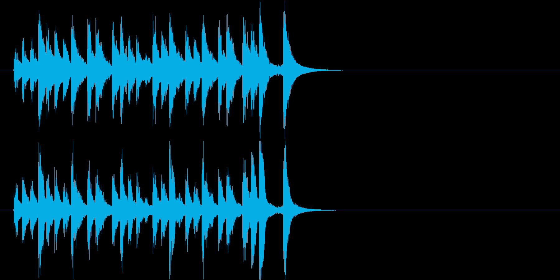 キラキラして可愛いピチカートジングルの再生済みの波形