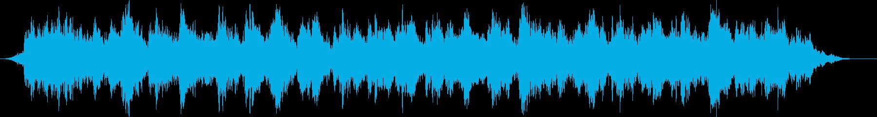 ホラーのような妖精の鳴き声のBGMの再生済みの波形