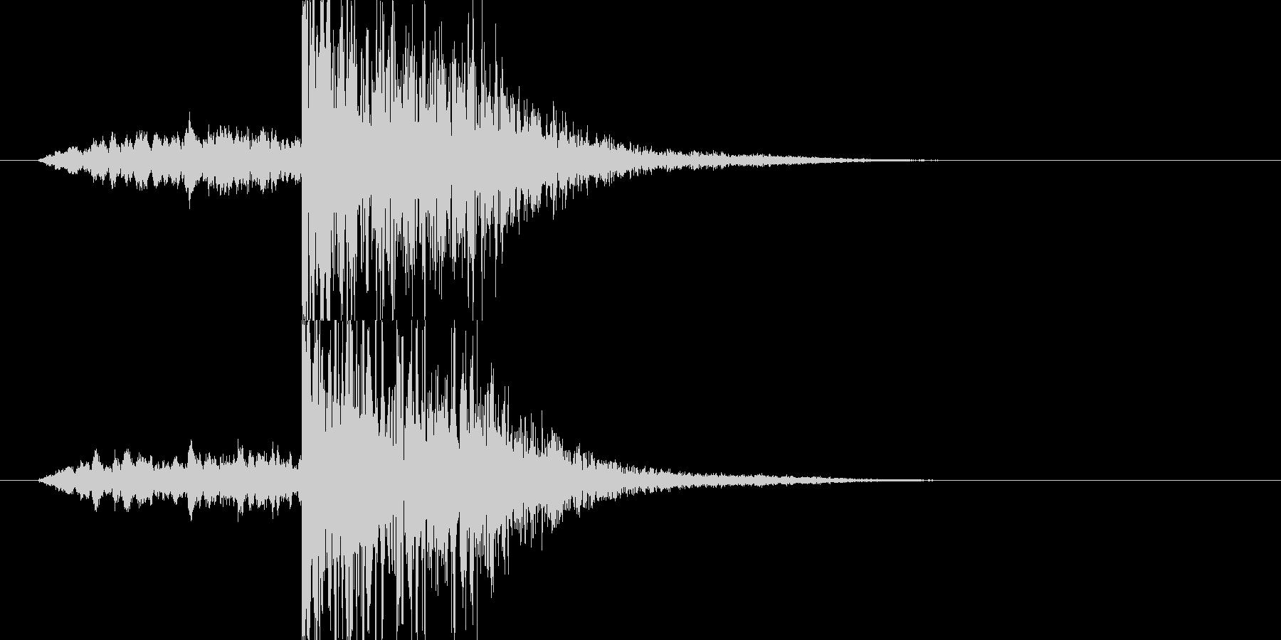 映画・映像用サウンドロゴ007の未再生の波形