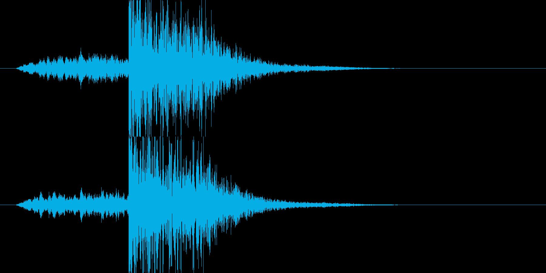 映画・映像用サウンドロゴ007の再生済みの波形
