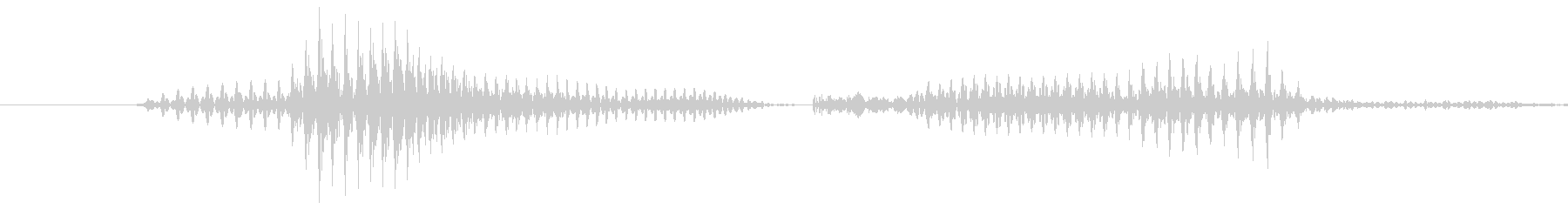「9 PM」英語発音の未再生の波形
