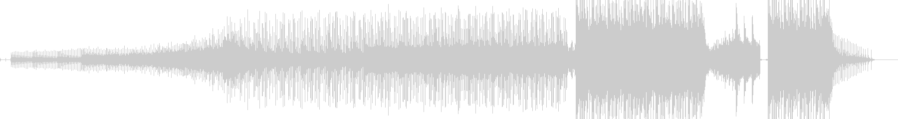 ひたすら恐怖感を描いたホラーBGMの未再生の波形