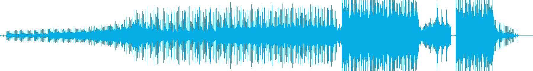ひたすら恐怖感を描いたホラーBGMの再生済みの波形