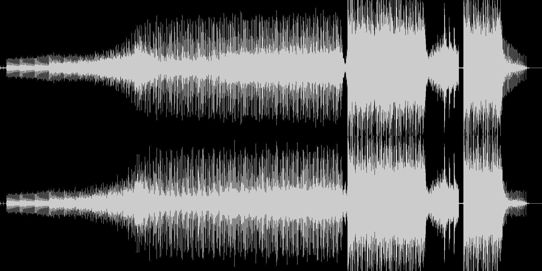 暗闇の恐怖を表現したサウンドの未再生の波形