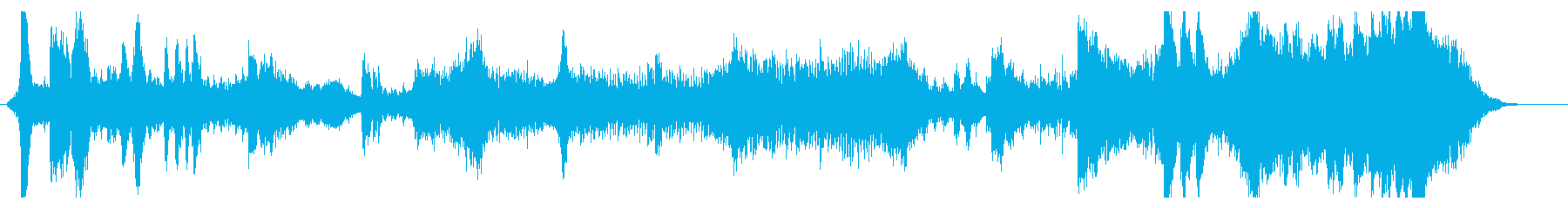 ハリウッド風アクション・カーチェイス音楽の再生済みの波形
