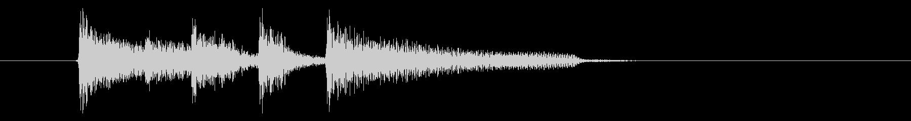 リズミカルで優雅なピアノジングルの未再生の波形