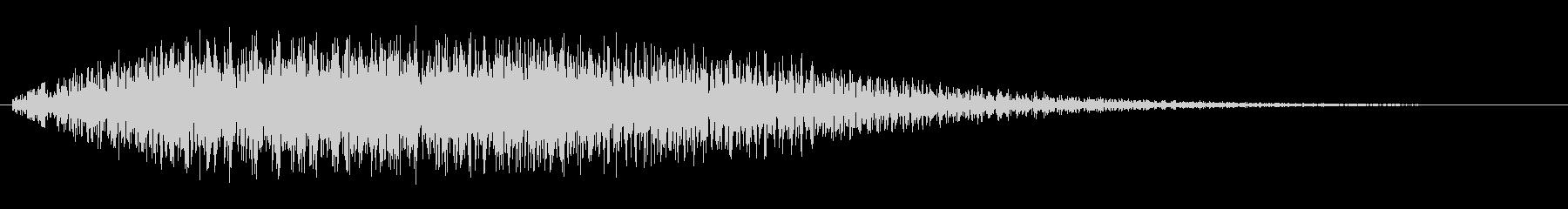 チャラララ(アップ)の未再生の波形