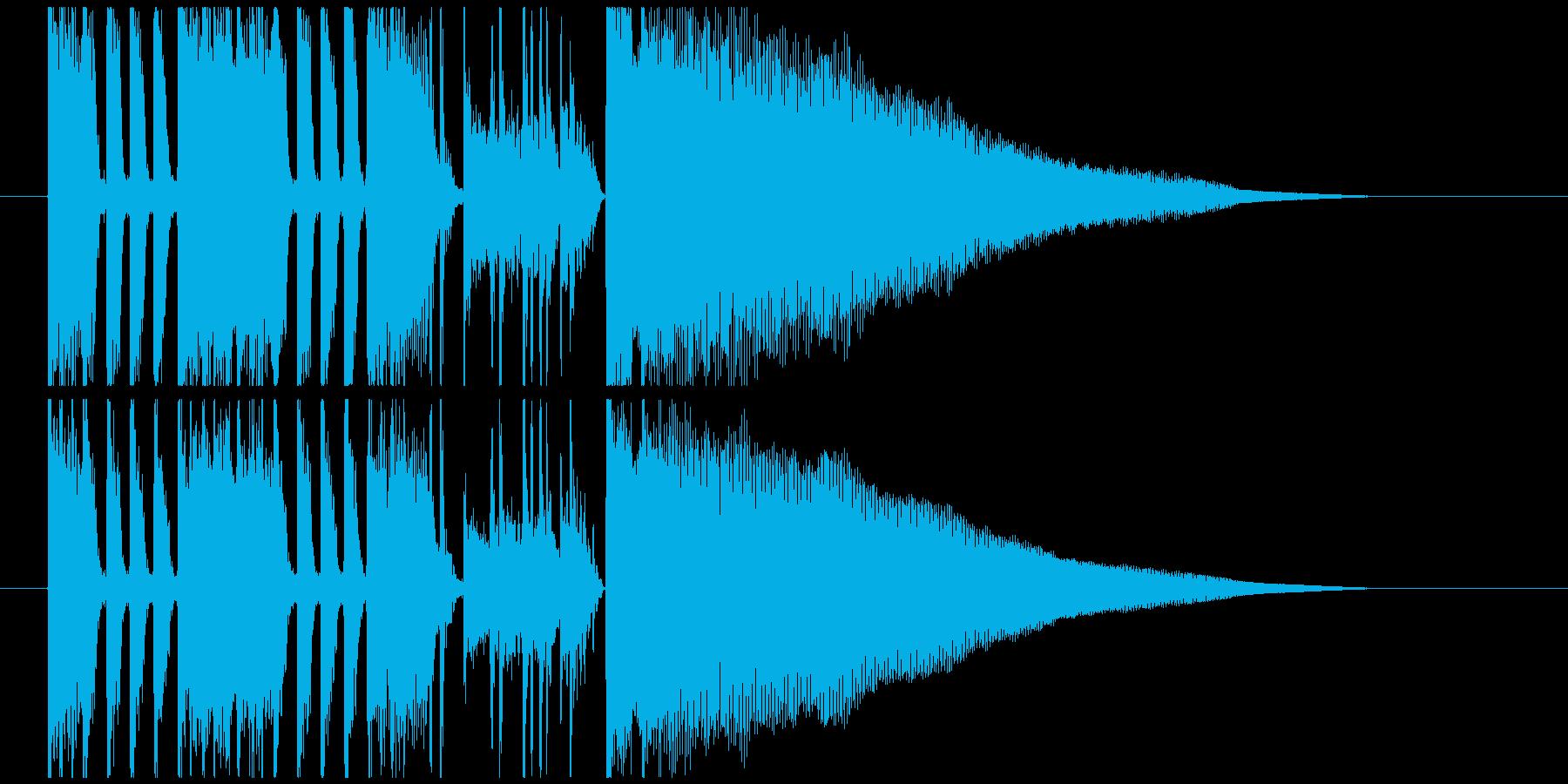 キレの良いファンクなジングル・BGMの再生済みの波形