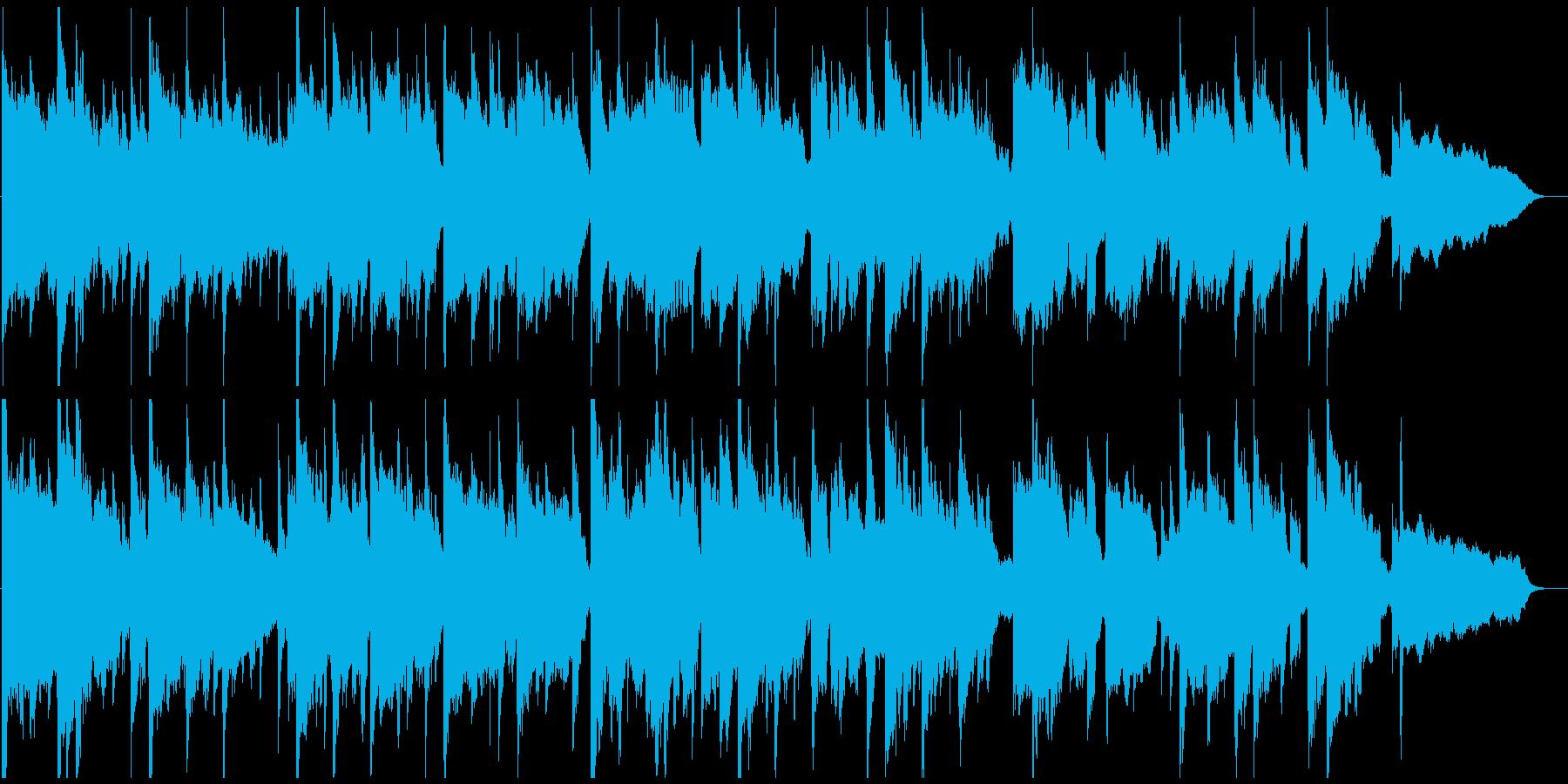 落ち着いたリラクゼーション、ヒーリングの再生済みの波形