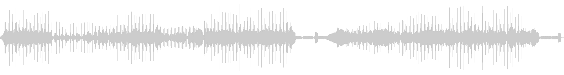 弾むリズムのディスコミュージックの未再生の波形