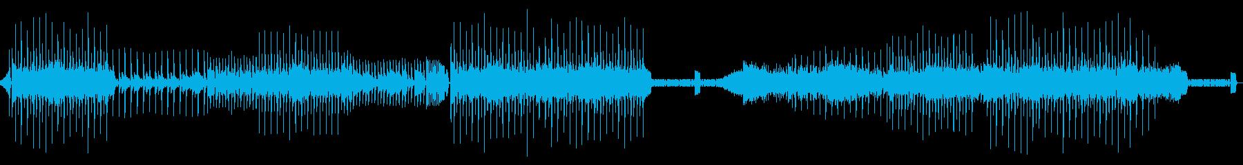弾むリズムのディスコミュージックの再生済みの波形