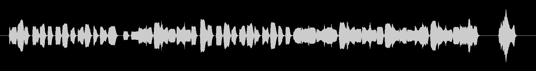 陽気なオカリナの舞曲風の少し長めジングルの未再生の波形