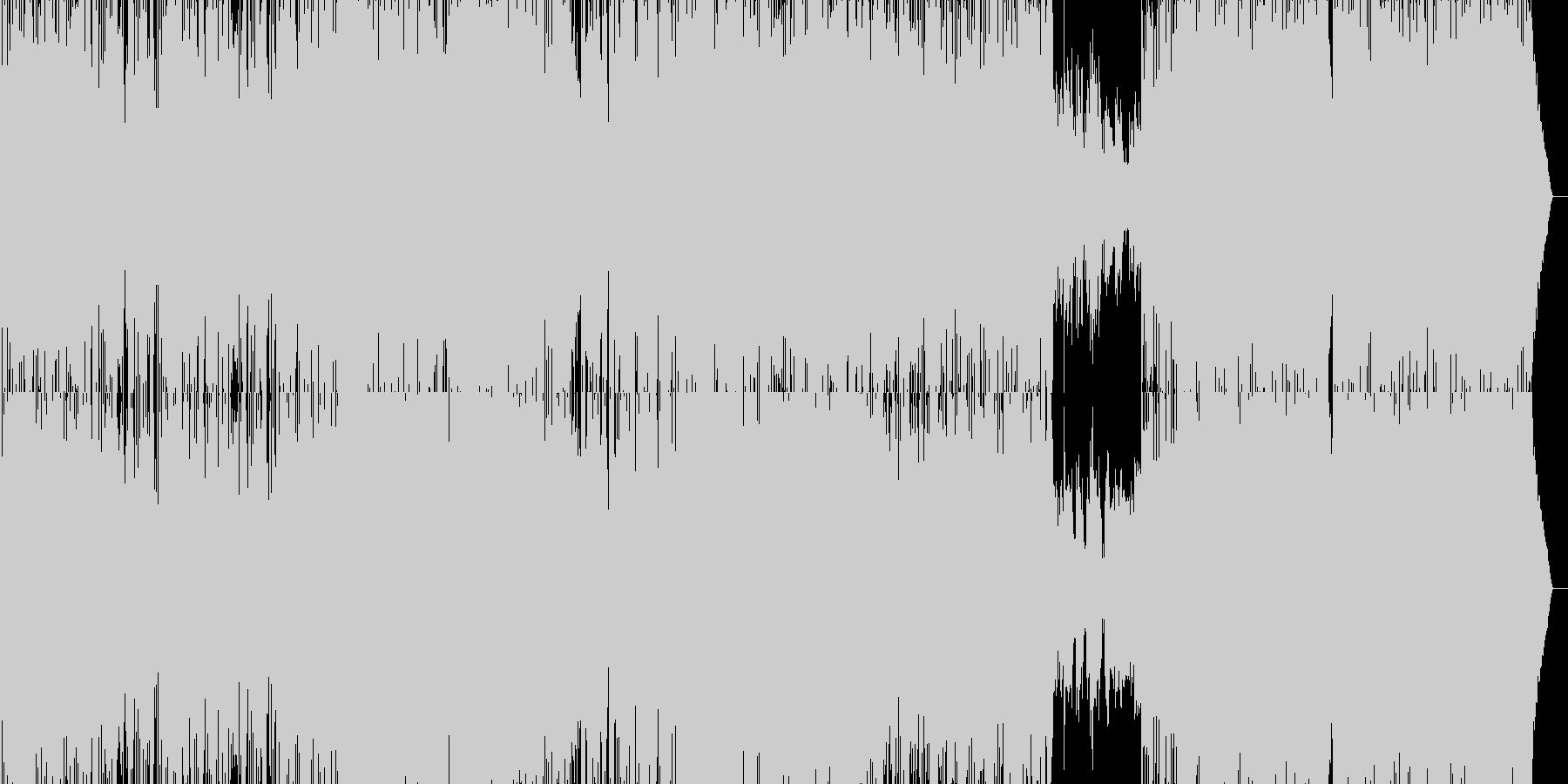 テンポの速いアコースティックギターロックの未再生の波形