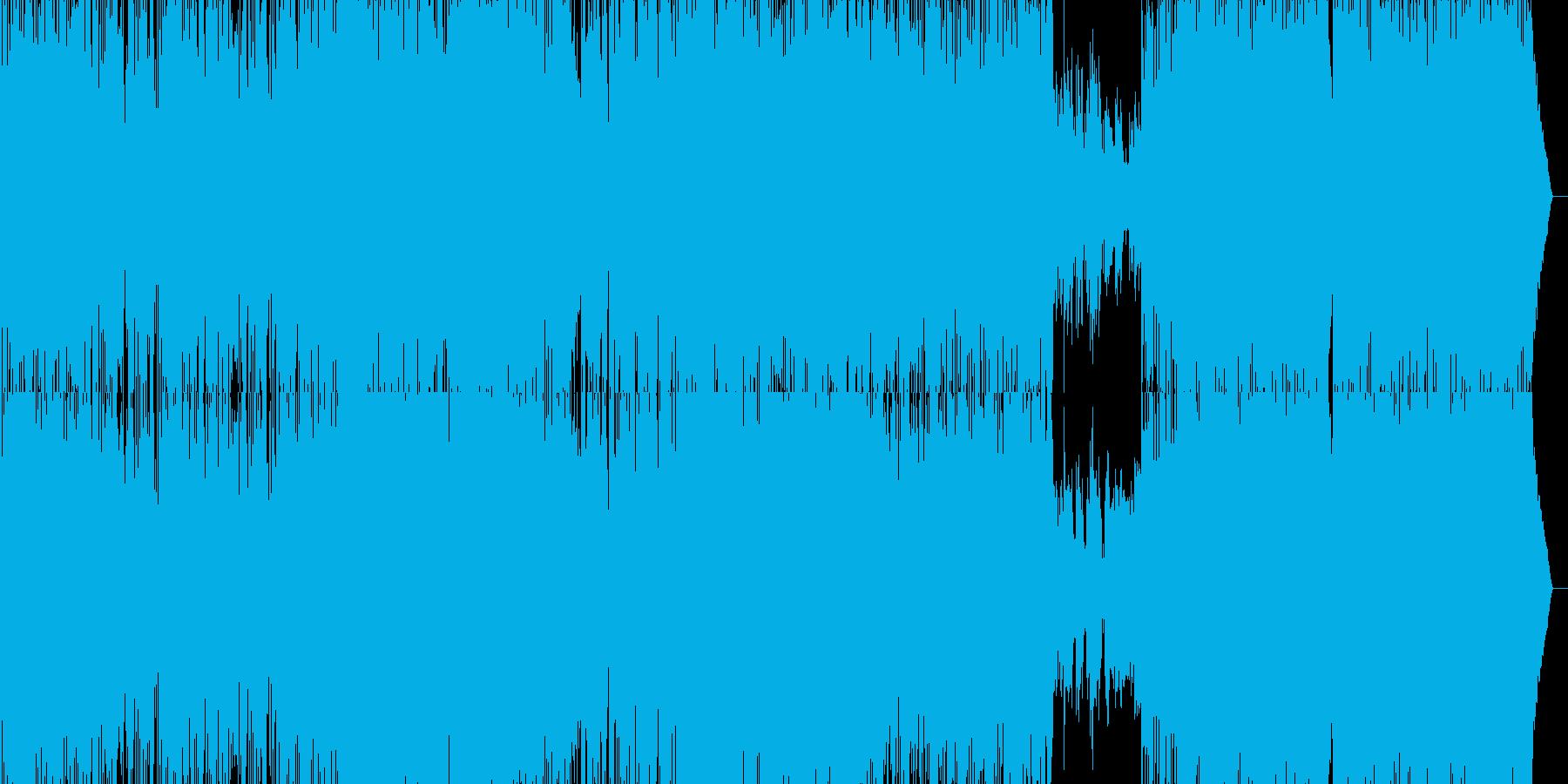 テンポの速いアコースティックギターロックの再生済みの波形