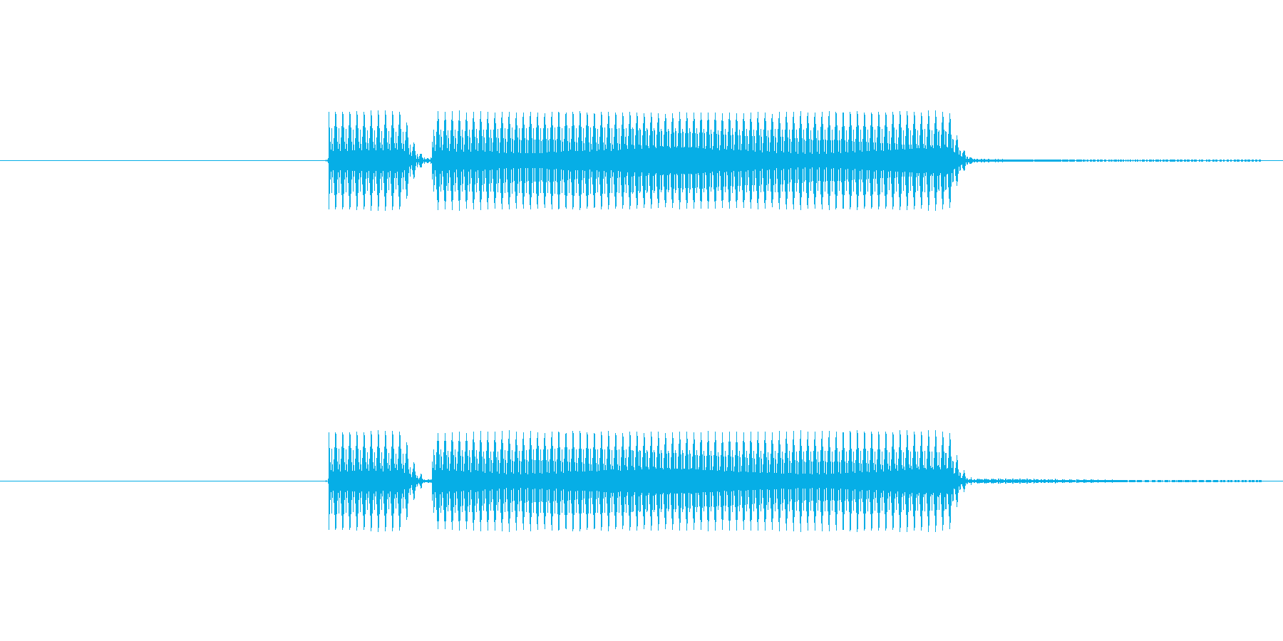 よくあるクイズでのブッブーってやつです。の再生済みの波形