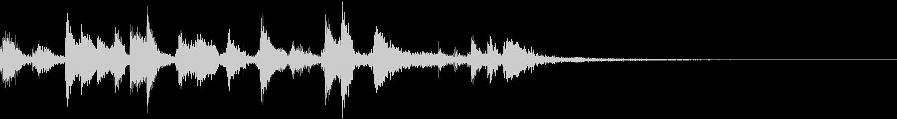 10秒動画用~ピアノとギターのボサ~の未再生の波形