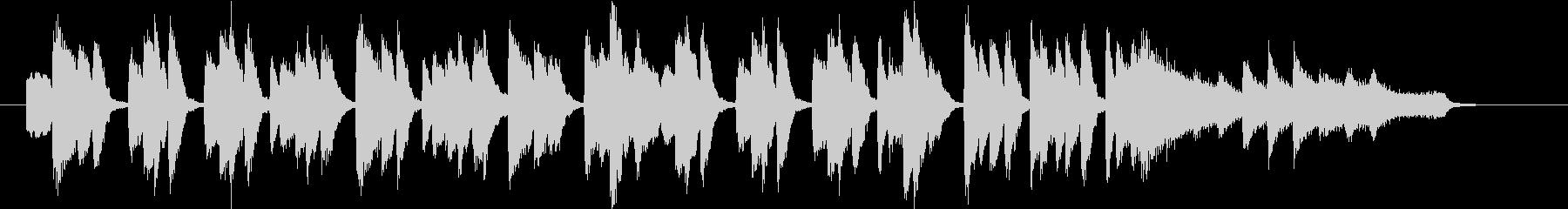 陽気なピアノワルツの未再生の波形