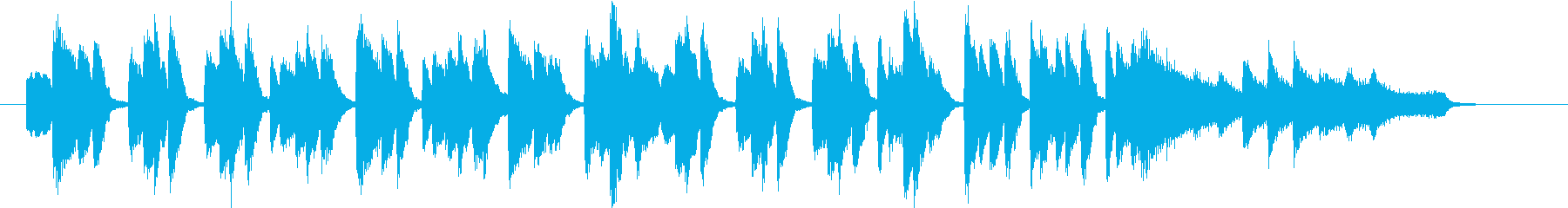 陽気なピアノワルツの再生済みの波形