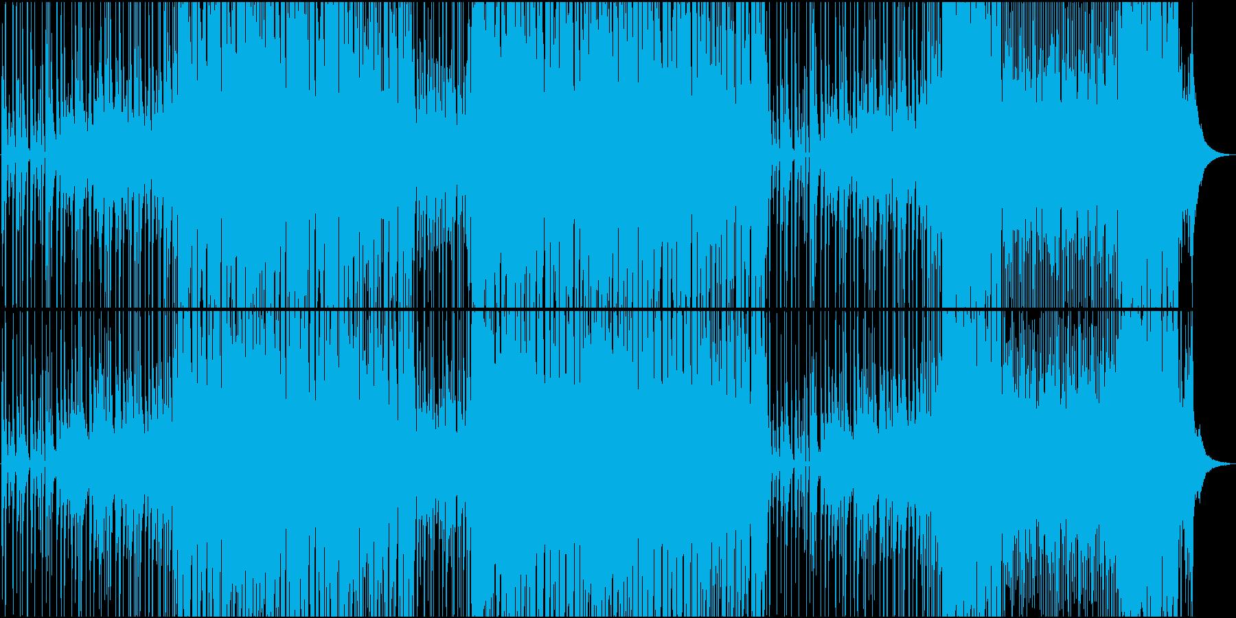 ウクレレ・アコギのほのぼのカントリーの再生済みの波形
