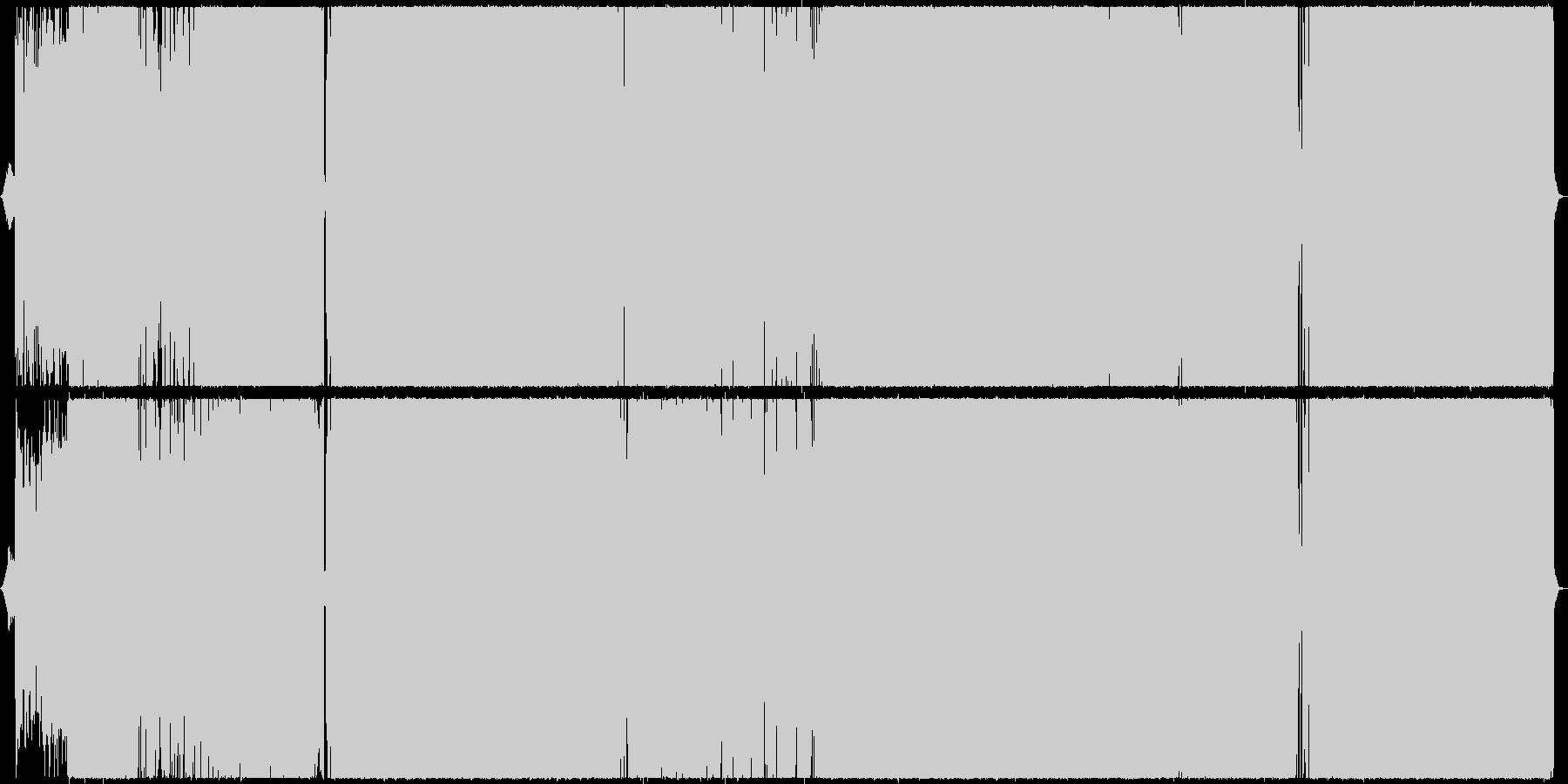 クールかつ叙情的なラウドロックの未再生の波形