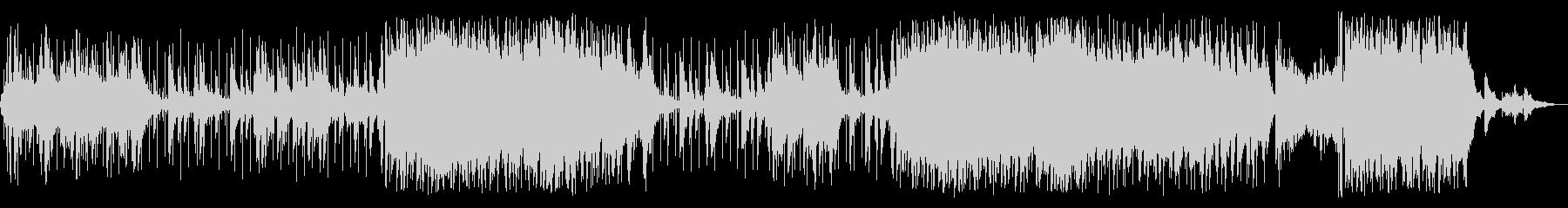 クールなサウンドのBGMの未再生の波形