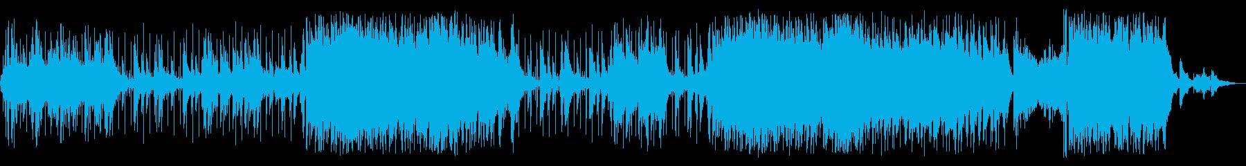 クールなサウンドのBGMの再生済みの波形