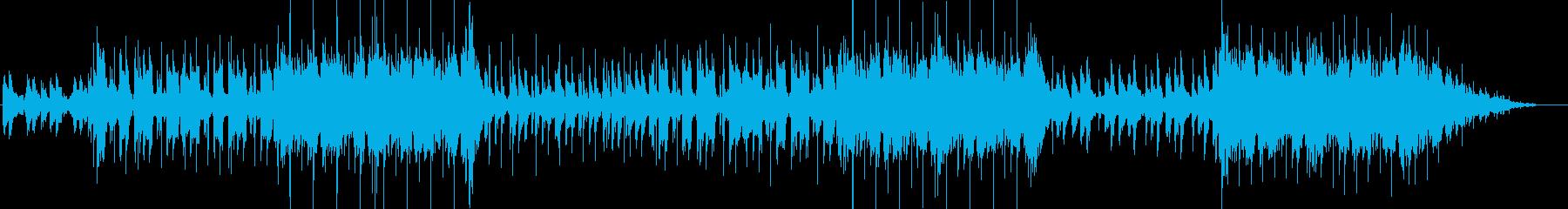 ピアノと声がメインの雄大なビートトラックの再生済みの波形