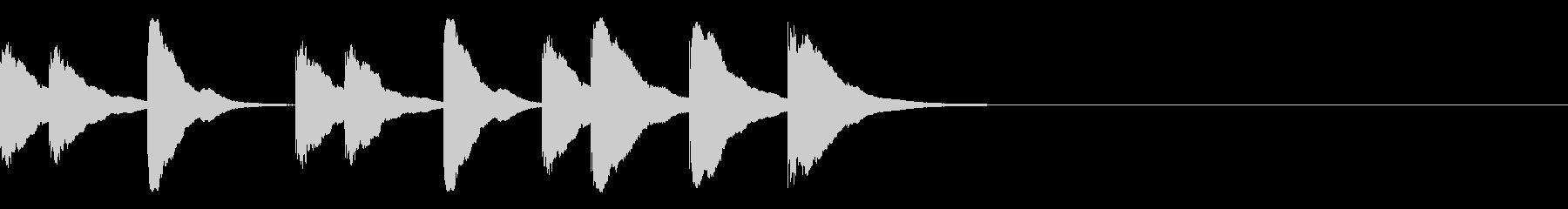 木琴の短い3秒ジングルの未再生の波形