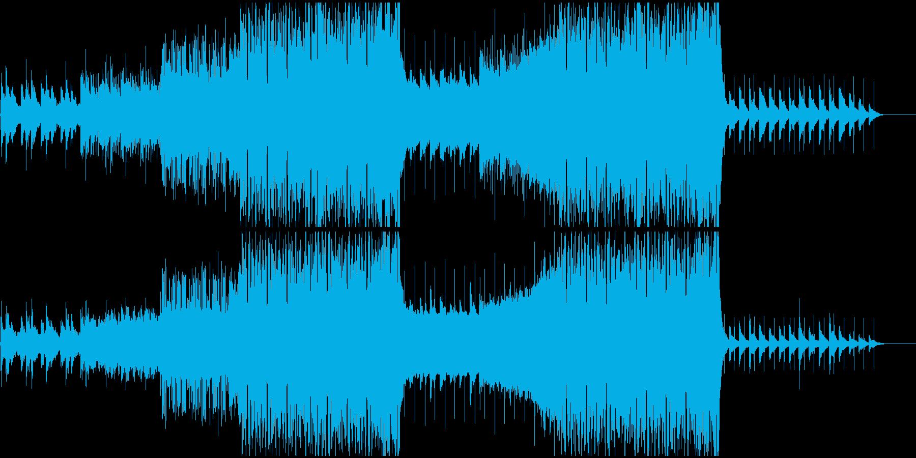 壮大でドラマティックなフューチャーベースの再生済みの波形