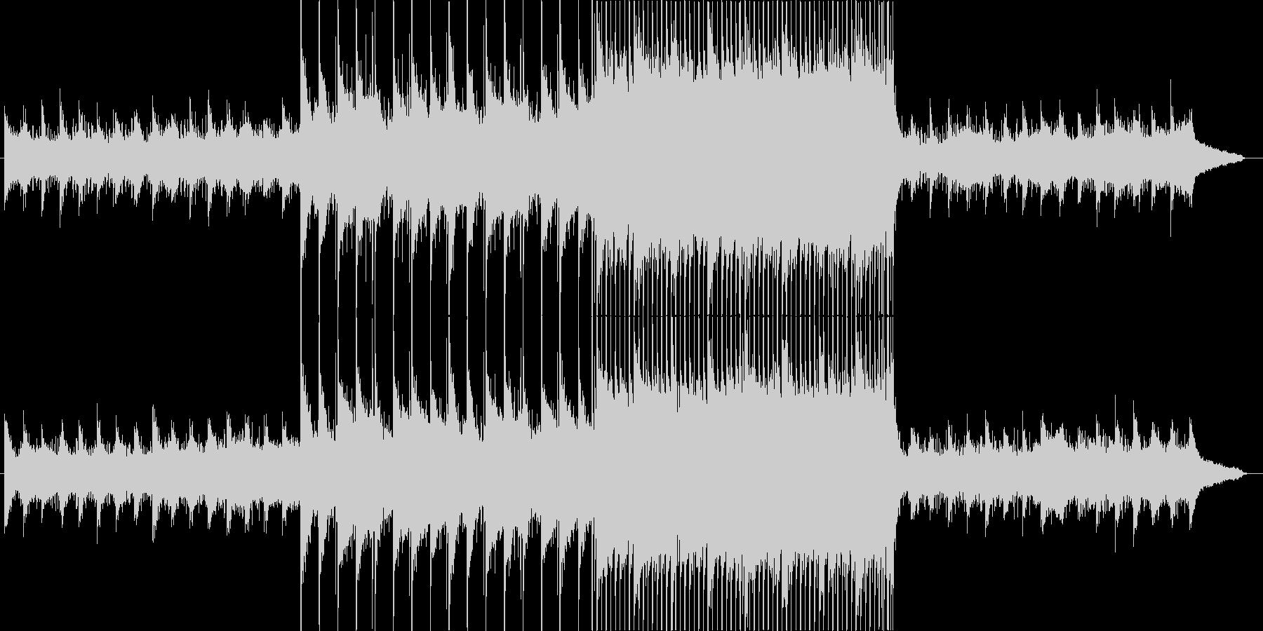 幻想的で期待感のあるピアノ&ストリングスの未再生の波形